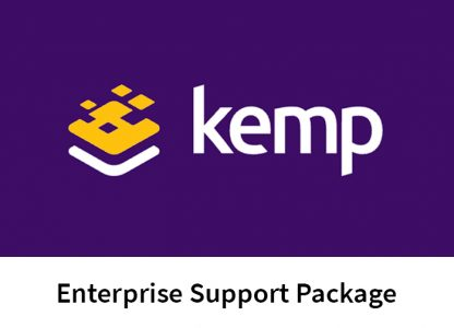 "the Kemp logo, against a purple background, with text underneath reading ""Enterprise Support Package."""