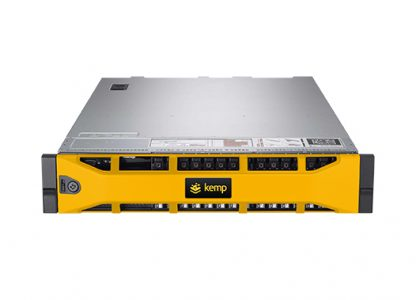 the Kemp Loadmaster LM 8020 FIPS load balancing appliance. A very bulky box, with space for racking.