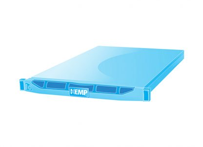 a blue virtual server with the Kemp logo.
